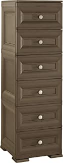 Tontarelli 8086061909 Omnimodus - Cajonera de 6 cajones (40 x 43 x 125 cm) Color marrón