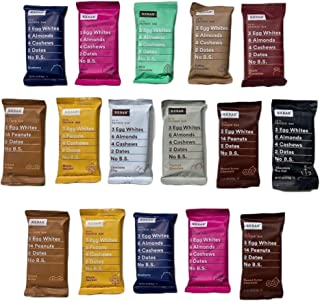 RxBars Real Food Protein Bars, Variety pack (pack of 16)