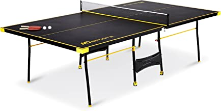 MD Sports Official Size Table Tennis Table, with Paddle and Balls, Blue/White