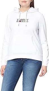 Tommy Jeans Tjw Slim Metal Corp Logo Hoodie Felpa con Cappuccio Donna