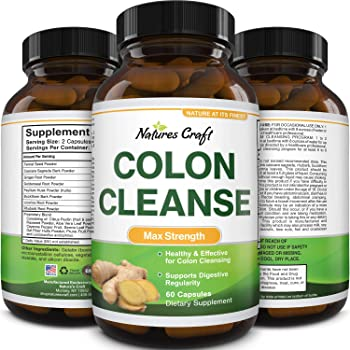 Colon Cleanser & Detox for Weight Loss - Lactobacillus Acidophilus Probiotic Supplement Body Cleanse for Weight Loss - Psyllium Husk Capsules Gut Health Supplement to Lose Weight and Belly Fat