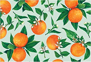 Hester and Cook Disposable Paper Placemats - Orange Orchard 24 Sheets - American Made