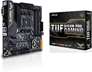 ASUS 90MB10A0-M0EAY0 TUF Gaming B450M-PRO Micro ATX Motherboard, AMD Socket AM4, AM4, Ryzen 3000 Ready, PCIe 3.0, M.2, DDR...