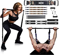 """INNSTAR Weerstand Bands Bar Oefening Bands Attachment 38 """"Zwart Max Load 800 lbs voor Thuis Gym Workout Full Body Workout ..."""
