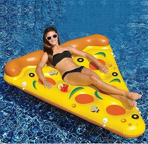 JX-WATER FLOATS Grand Bouée Gonflable PVC Eau Gonflable Pizza Ligne Flottante Adulte Sports Nautiques Bateau Gonflable Surf