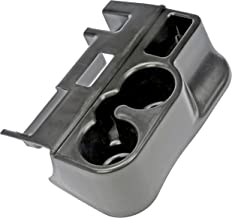 APDTY 52120 Center Console Add-On Plastic Cup Holder 1999-2001 Dodge Ram (1500, 2500, 3500) Pickup With Center Console (Press On) (Replaces SS281AZAA) (Black)