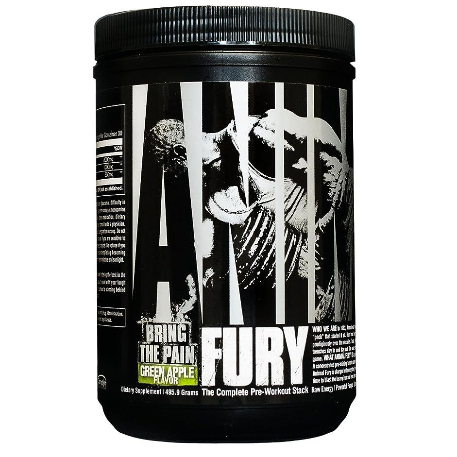 最大の最初は手のひらUniversal Nutrition アニマルフューリー 30回分 (Animal Fury 30 Servings) (グリーンアップル)