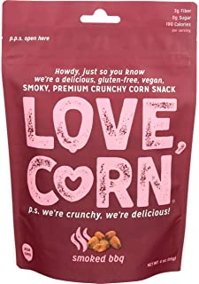 Love Corn, Corn Snack Smoked BBQ, 4 Ounce