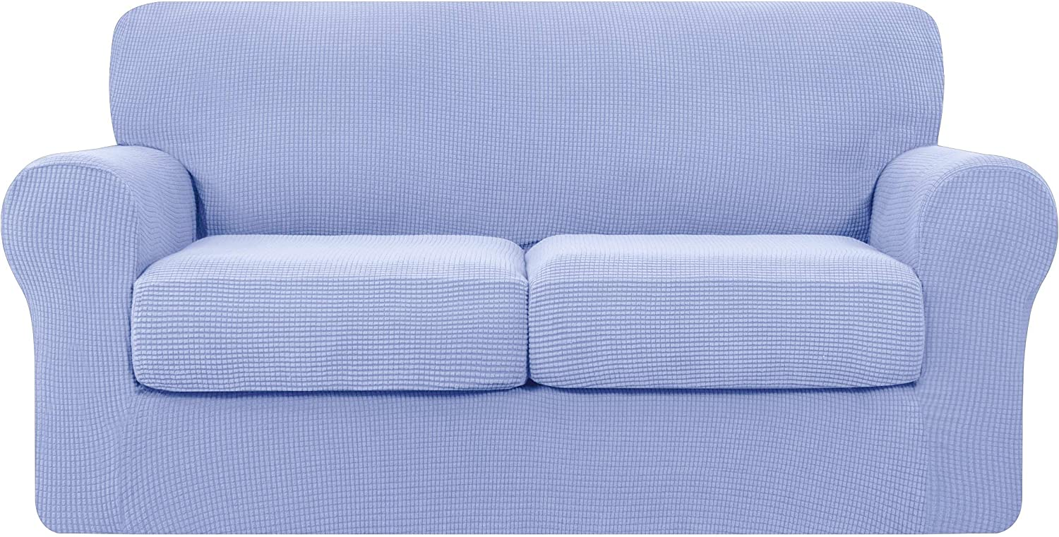 Special Campaign Hokway Couch Cover for 2 Cushion 3 Piece Fees free!! Slip Stretch Sofa