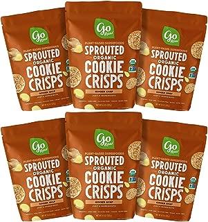 Go Raw Organic Cookie Crisps, Ginger Snap, 3 oz. Bags (Pack of 6) — Superfood | Paleo | Gluten Free Snack Crisps | Vegan