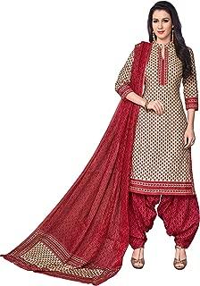 FashionRiti Women's Cotton Printed Straight Stitched Salwar Suit Set (R-5561)