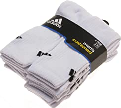 Men's Cushioned Sock (6-Pack), Black, Size 6-12