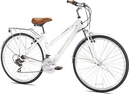Northwoods 92793 - Bicicleta híbrida de 21 velocidades para damas, Blanca