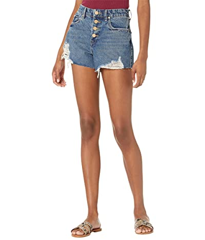 Blank NYC Indigo High-Rise The Barrow Shorts in Living The Dream Women