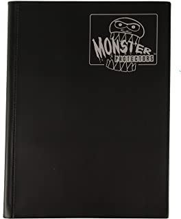 Monster Binder - 9 Pocket Trading Card Album - Matte Black - Holds 360 Yugioh, Magic, and Pokemon Cards