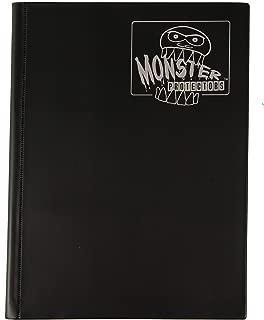Monster Binder - 9 Pocket Trading Card Album - Matte Black - Holds 360 Yugioh, Magic, and Pokemon Cards