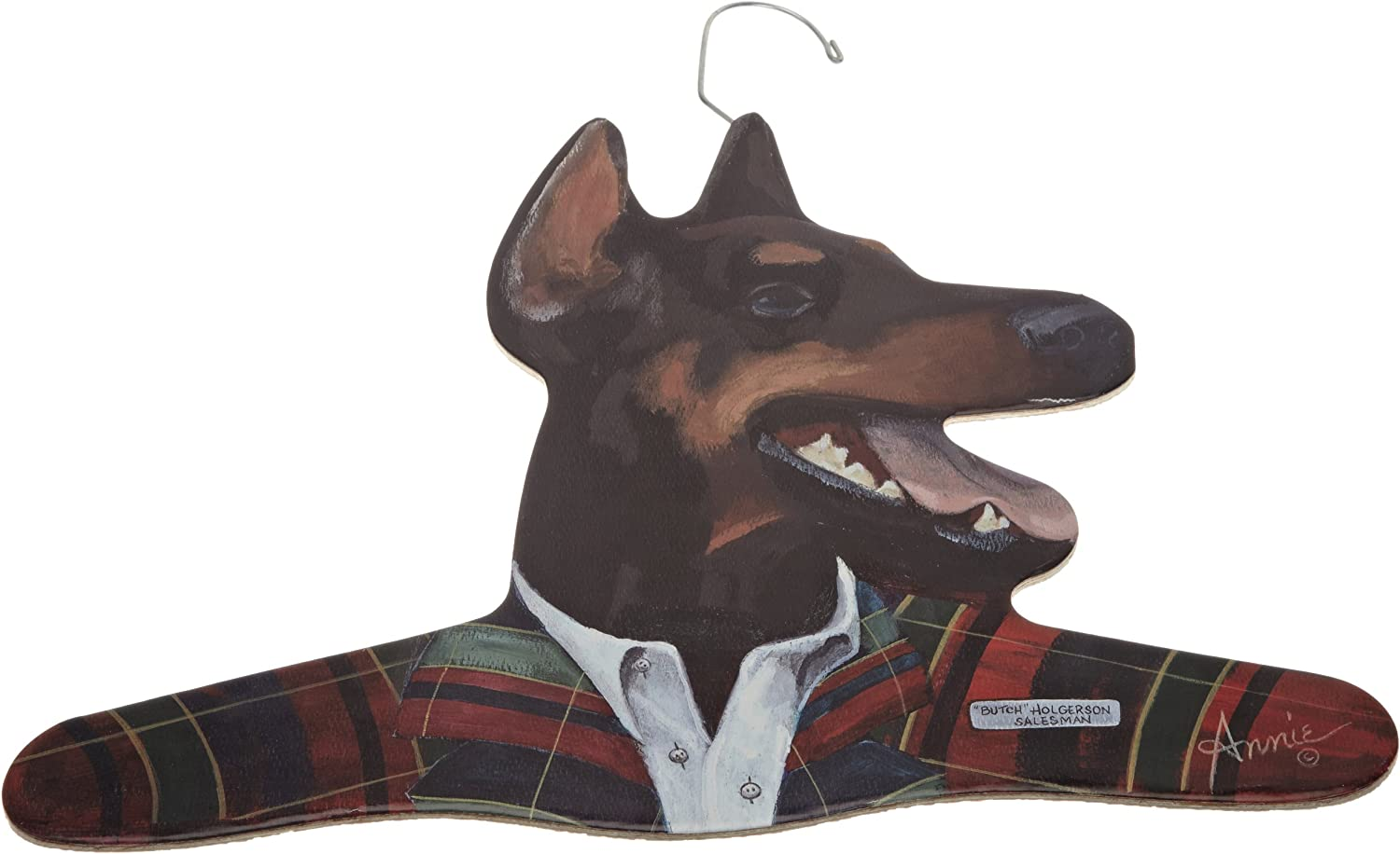 The Stupell Home Decor Collection Salesman Doberman Hanger
