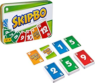 Skip Bo Card Game in Decorative Tin with 162 Cards, Sequencing Family Game for 2 to 6 Players, Kids Gift for Ages 7 Years ...