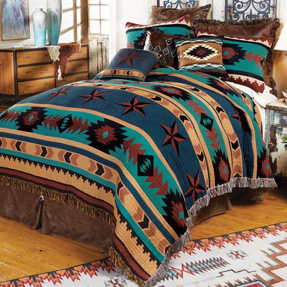 BLACK FOREST Sales results No. 1 DECOR Turquoise Desert Coverlet Tapestry - Queen Regular dealer