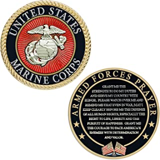USMC Prayer Coin - Marine Corps Valor USMC Challenge Coin
