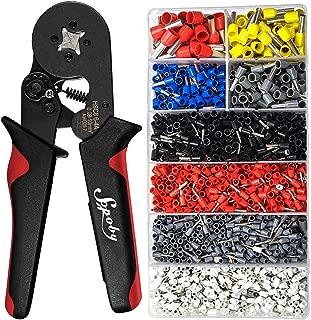 Ferrule Crimping Tool Kit - Sopoby Ferrule Crimper Plier w/ 1800pcs Wire Ferrules Wire Ends Terminals AWG 28-7, 0.08-10mm²