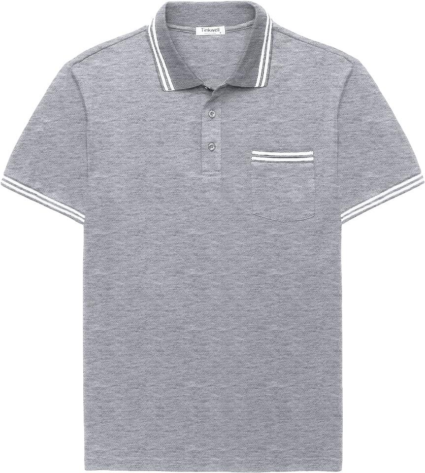 Herren Poloshirt Golf Polo Kurzarm Sommershirt Herren Polo T-Shirt Herren Polohemd Kurzarm Shirt Herren Slim Fit Baumwolle