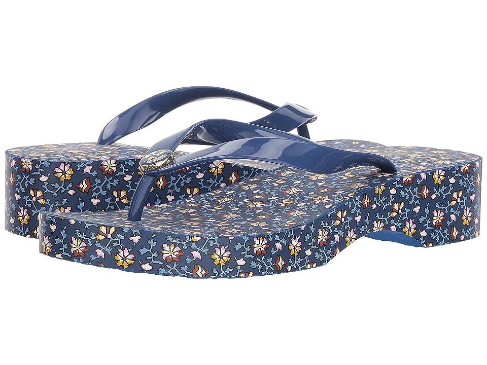 Tory Burch Wedge Flip-Flop (Fresh Blueberry/Wild Pansy) Women