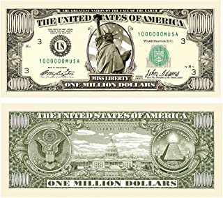 American Art Classics Million Dollar Traditional Bill - Comes in Free Currency Money Protector - Best Million Dollar Bill