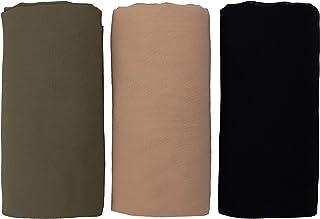 Voile Chic Hijab Luxury Chiffon Wrap Head Scarf Gift Set - Natural (3 Luxury Chiffon Scarf Wraps)
