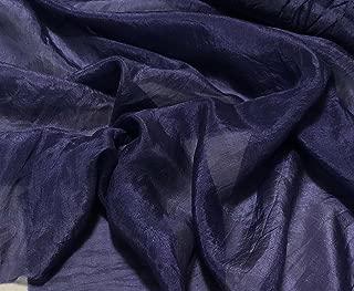 Midnight Blue - Hand Dyed Silk Habotai Fabric