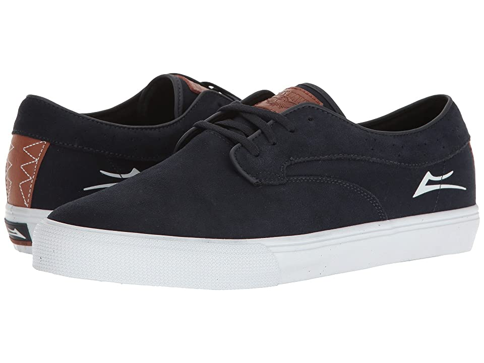 Lakai Riley Hawk (Midnight/White Suede) Men