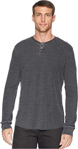 Burnout Thermal Snap Notch Neck Shirt