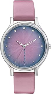 Fastrack Sunburn Analog Pink Dial Women's Watch-6212SL01