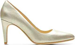 Clarks Laina Rae, Women's Women Pumps, Gold (Champagne Metallic Leather), 6.5 UK (40 EU)