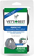Vet's Best 1 Count Washable Male Dog Wrap, X-Small/XX-Small