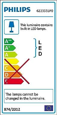 Philips myLiving Mauve Plafonnier, Lumière LED Intégrée 1 x 6 W, Détecteur de Mouvement - Blanc