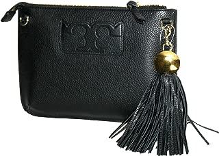 Tory Burch Tassel Cross Body Bag Black Leather, Small