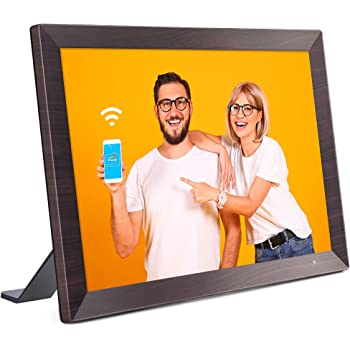 VANKYO WiFi Digital Photo Frame, 10.1 inch Touch Screen, Smart HD Display, Instant Share Photos and Videos via App, Email, Cloud, 16GB Storage, Auto-Rotate