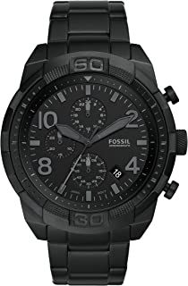 Fossil Men's Bronson Stainless Steel Watch with Black Dial - FS5712