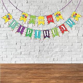 "Wobbox Birthday Bunting Banner ""Its My Half Birthday"" Multi Color, Birthday Decoration Item"