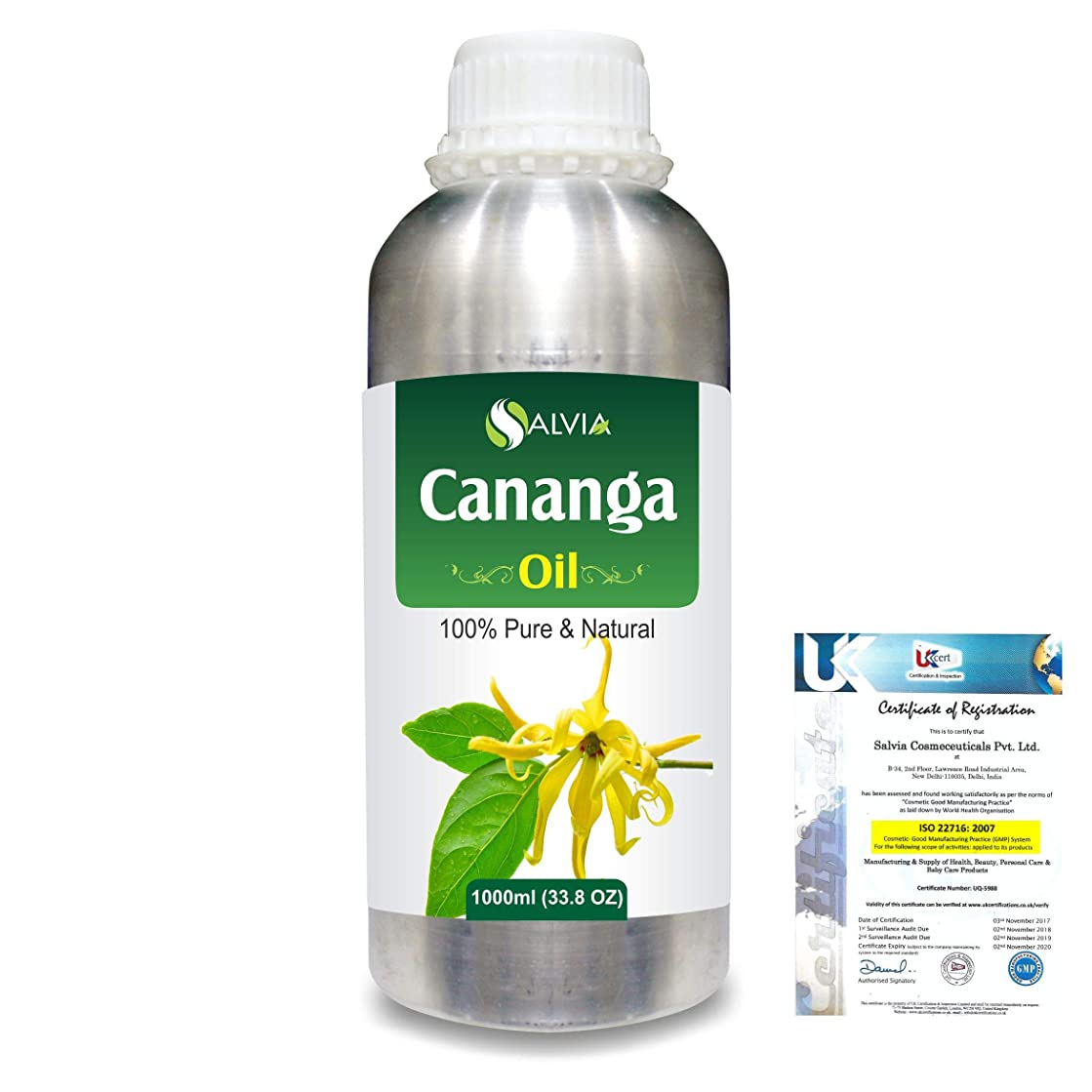 避難ポルノパパCananga (Canoga odorata var macrophylla) 100% Natural Pure Essential Oil 1000ml/33.8fl.oz.