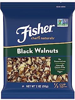 FISHER Chef's Naturals Black Walnuts, 2 oz, Naturally Gluten Free, No Preservatives, Non-GMO