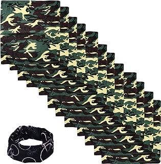 Basico * 纯棉头巾围巾 12 件装带管面罩/头巾