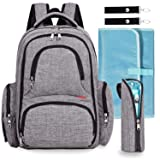 Big Sale - Baby Diaper Bag Waterproof Travel Diaper Backpack with Changing Pad and Stroller Clips (Gray)Big Sale - Baby Diaper Bag Waterproof Travel Diaper ...