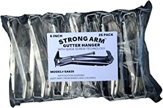 Quick Screw 5 100 Pack Heavy Duty Hidden Rain Gutter Bracket Hook hangers With Clip /…