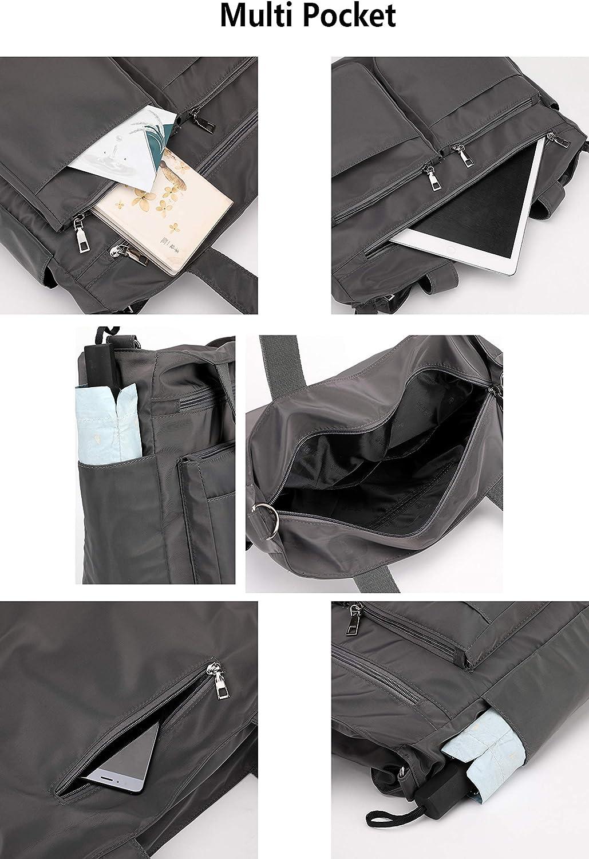 Mfeo Womens Large Multi Pockets Nylon Tote Crossbody Shoudler Work Bag Handbags