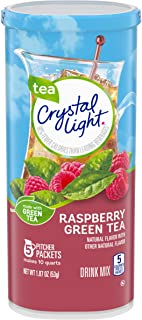 Crystal Light Raspberry Green Tea Drink Mix (60 Pitcher Packets, 12 Packs of 5)