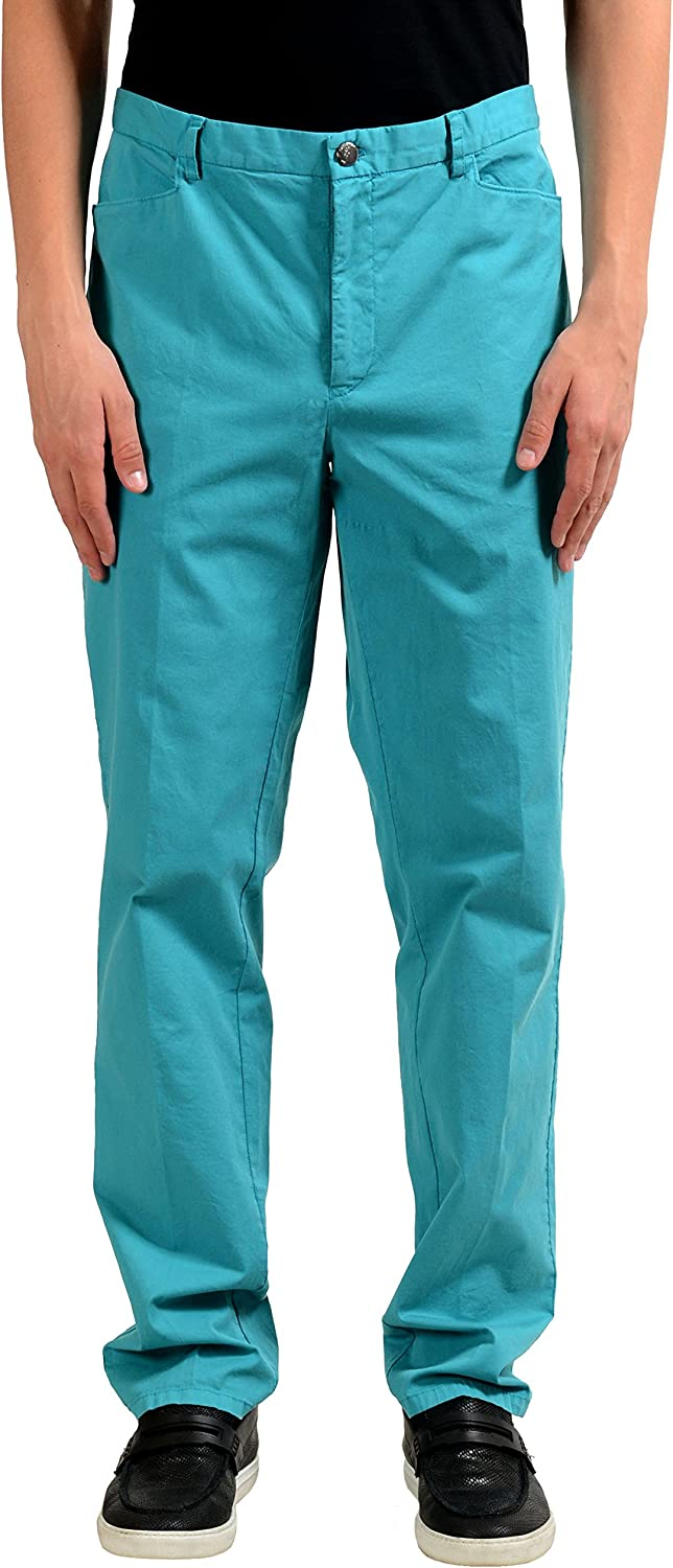 Versace Collection Men's Turquoise Casual Pants US 38 IT 54