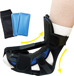 Sleep Support Night Splint, Foot and Leg Stretcher, Effective Relief from Plantar Fasciitis Pain, and Achilles Tendonitis ...