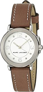 Marc Jacobs Womens Quartz Watch, Analog Display and Leather Strap MJ1472